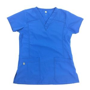 WonderWink Scrub Top Small Blue Four-Stretch